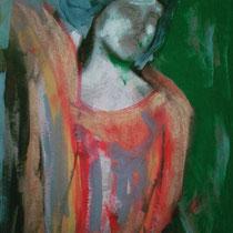 Donna allo specchio, 89 x 54 cm