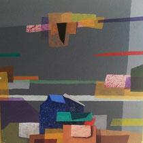 Quasi un paesaggio, 2015, acrilico, 40 x 40 cm