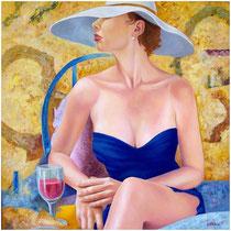 Drink, 1999, olio su tela, 60 x 60 cm