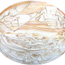 Neve, 2008,tecnica mista su tavola,115x95 cm