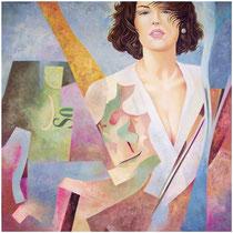 All'improvviso, 1999, olio su tela, 80 x 80 cm