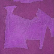 Senza titolo, 2010, olio e collage su tela, 30 x 30 cm