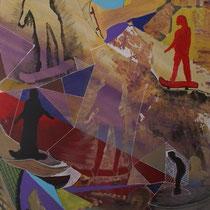 Katerboard, 2018, Acrilico su carta, 70 x 100 cm
