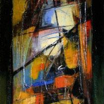 Vetrata n°5, 2006 mista su tavola cm. 40x80