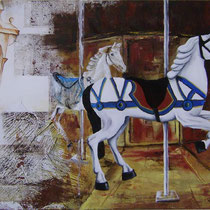Giostra, 2015, olio su tela, 70 x 50 cm