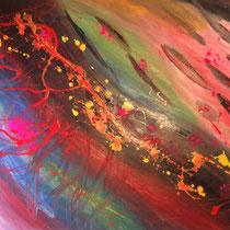 Flussi vitali, 2016, olio su tela , 100 x 70 cm