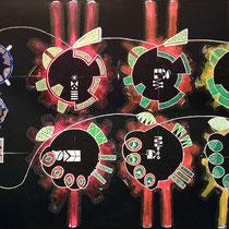 Multi-Elaborazione: Guarigione, 2011, acrilico e smalto su tela, cm 100x150, DCCXXXII-732