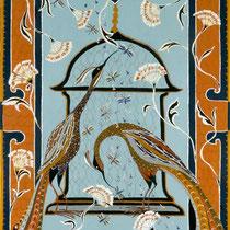 Birds of Paradise, 80x120x1,5 cm