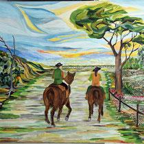 I Butteri, 2018, olio su tela, 80 x 100 cm