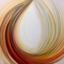 18 ottobre, Alba, 2015, acrilico su tela, 60x60 cm