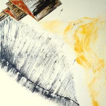 Untitled - 2014 - vernice, olio, acrilico cm. 50x70 su tela