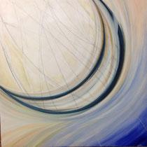 Ho imprigionato la luna, 2015, acrilico su tela, 60x60 cm