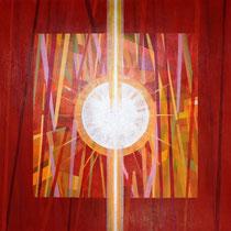 La libertà dell'anima, 2014, acrilici su tela, 100 x 100 cm