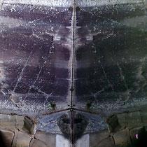 Visione, 2014, Stampa su alluminio, 100 x100 cm