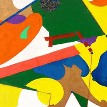 Senza titolo, 2015, mista su truciolare, 60 x 110 cm