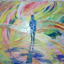 ARCOBALENO PSICHEDELICO - 2014 - 50x70 - olio su tela