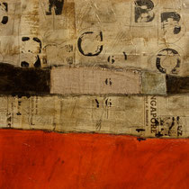 paesaggio e parole 1, 2013, tec.mista su tavola 60x60