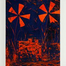 L'elica morsa-2014-Rullo,Smalto e Spatola su Cartoncino e Md Nobilitato bianco -35X50 cm