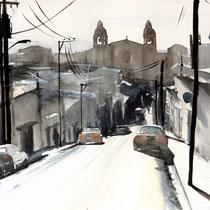 Calle del Sol, 2014, acquerello su carta, 36x57 cm