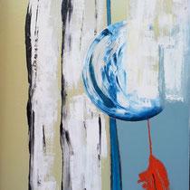 Siderale Z ua 1 - 2014 - vernice, olio, stucco - cm. 70x100  su cartone pressato