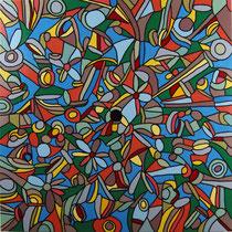 Vita/Morte, 2015, smalto su tela, cm 60x60