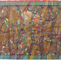 Tabula aquilana, 2011, tecnica mista, 50x70 cm