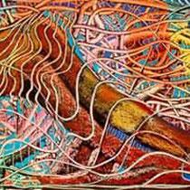 Surrealismo,  2014, tecnica mista oleo e pastel de oleo sobre tela,  195 x 80 cm
