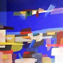 Azzurre sere d'estate, 2013, acrilico, 60 x 60 cm