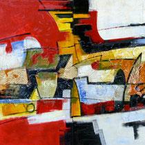 La Città Dorata, 2008 mista su tela, dittico cm.200x100