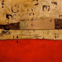 paesaggio e parole 2, 2013, tec.mista su tavola  60x60