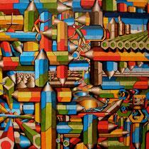 Penciland - 2014 - pennarello pantone su tela - 100x80 cm