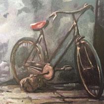 Abbandono, 2016, olio su tela, 33 x 22 cm