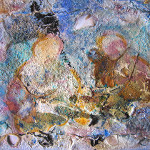 Nel bagliore della dea luna 2013, strutture+fessure/pigmenti puri/caseina, 30x24cm
