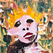 Senza titolo, 2015, acrilico e tecniche miste, 50 x 50 cm