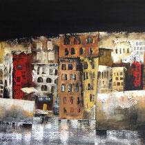 La notte in Città Vecchia, 2014, acrilica, 80 x 90 cm