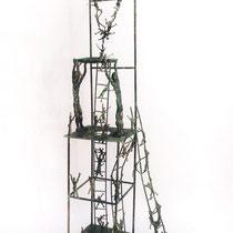Lotta per l'acqua, scultura in bronzo, 120 cm