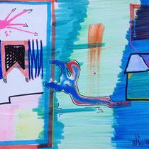 Prigionieri del Futuro, 2013, tecnica mista, 71x85
