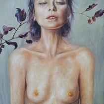 """""""Come foglie"""", 2015, olio su tela, 70x100 cm"""
