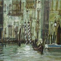 Promenade, 2014, mix media on canvas, 45x55 cm