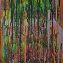 Cascata di Colore, 2018, Acrilico su tela, 50 x 100 cm