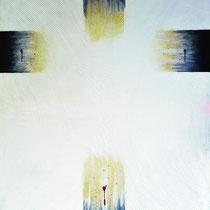 Croce nuda, olio su tela, 80 x 100 cm