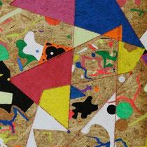 Senza titolo, 2015, mista su truciolare, 60 x 120 cm