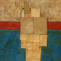 di-simmetriche simmetrie, 2014, tec.mista su tavola 90x100