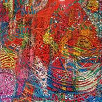 Medieval 1, 2014, tecnica mista oleo e pastel de oleo sobre tela,  170 x 80 cm