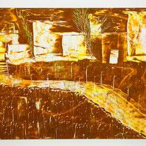 Illuminato-2014-Rullo,Smalto e Spatola su Cartoncino e Md Nobilitato bianco -50x35 cm