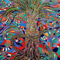 Mil aguas, 2006, tecnica mista oleo e pastel sobre tela, 200 x 190 cm