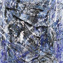 """Onde"", 2011, Tessuto, acrilico su tela, 70x90 cm"