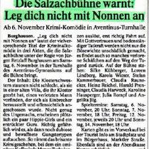 Burghauser Anzeiger vom 03.11.2010 - Leg dich nicht mit Nonnen an