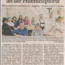 Burghauser Anzeiger vom 21.10.14 - Im Himmel gibt´s kein Parlament