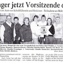 Burghauser Anzeiger vom 15.02.2001 - Vorstandswahlen und JHV